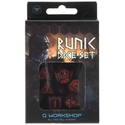 Runic Dice Set Black - Red